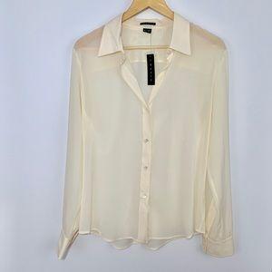 NWT THEORY silk Larissa soft shirting blouse